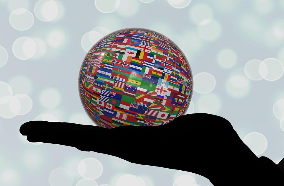 Hand, Keep, Ball, Flags, Flag, International