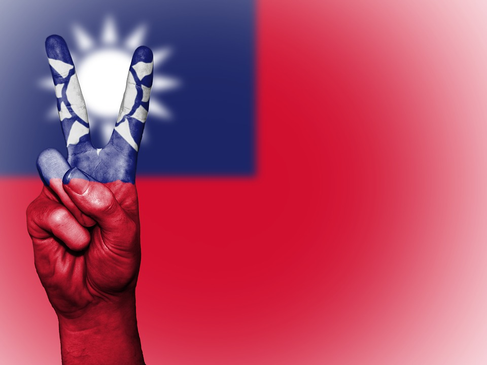 Taiwan, Peace, Hand, Nation, Background, Banner, Colors