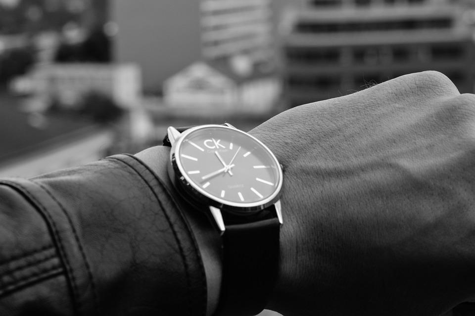 Calvin Klein, Hand, Watch, Wristwatch