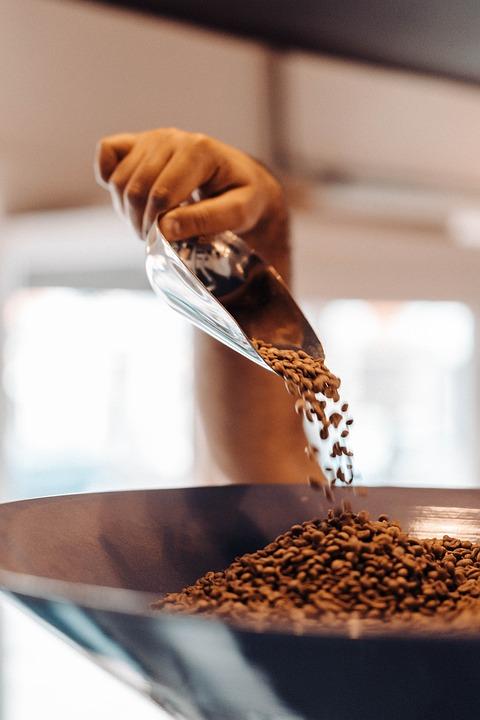 Coffee Beans, Scooper, Hand, Grinder, Coffee Grinder