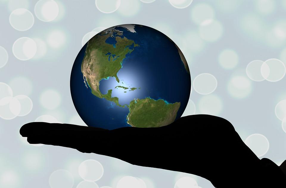 Hand, Keep, Globe, Earth, Continents, Usa, America
