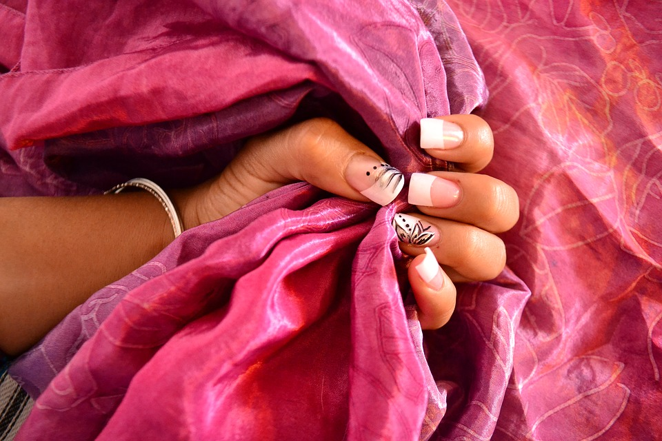 Nail, Silk, Hand, Fabric, Decoration, Fingers, Fuchsia