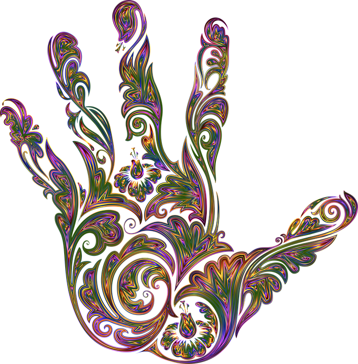 Hand, Fingers, Floral, Decorative, Decoration