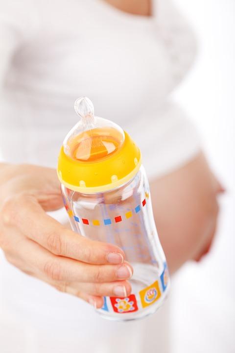 Belly, Care, Feeding, Bottle, Girl, Hand, Holding