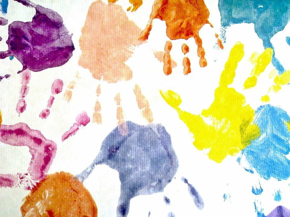 Hand, Finger, Handprint, Connectedness, Yellow, Orange