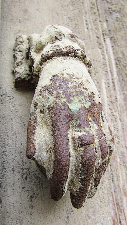 Door, Knocker, Hand, Old, Rusty, Aged, Vintage, House
