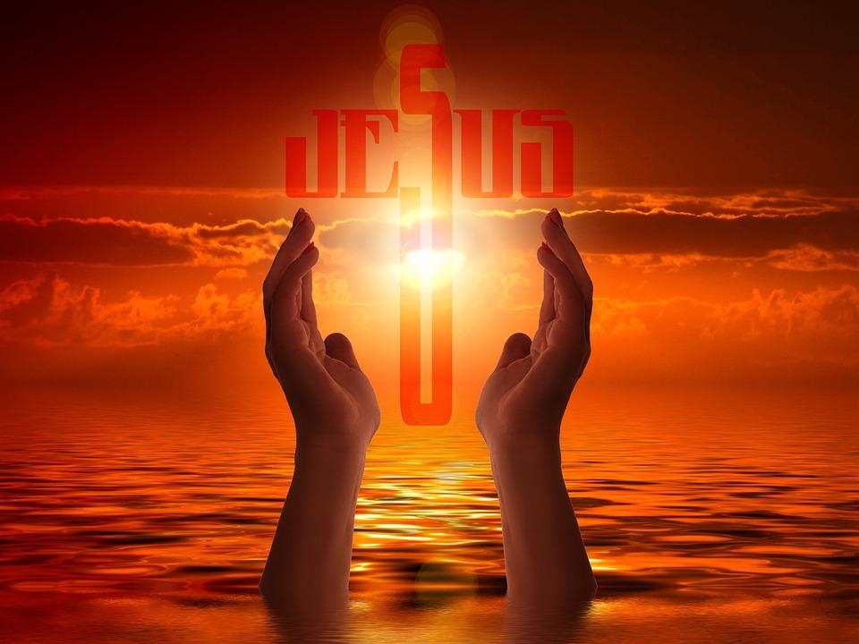 Religion, Faith, Cross, Light, Jesus, Hand, Trust, God
