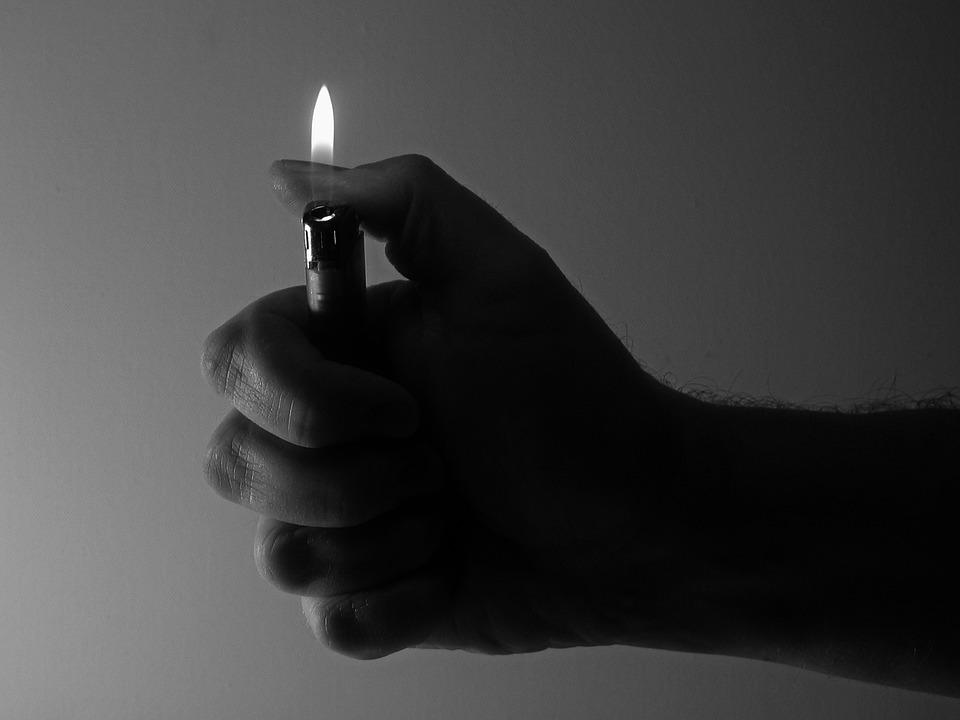 Lighter, Flame, Hand, Keep, Thumb, Light, Burn, Kindle