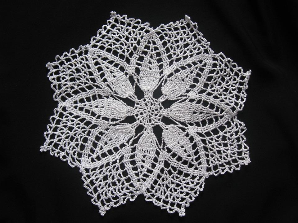 Crochet Blanket, Crochet, Hand Labor, Black And White