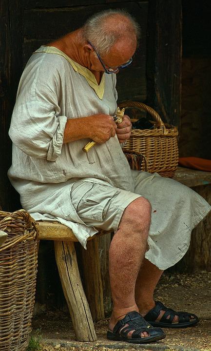 Schnitzer, Wood Carver, Man, Hand Labor, Carve
