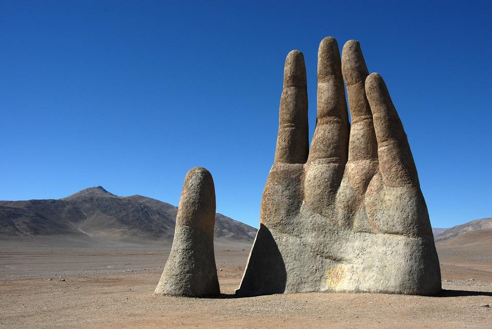 Chile, Atacama, Landscape, Hand