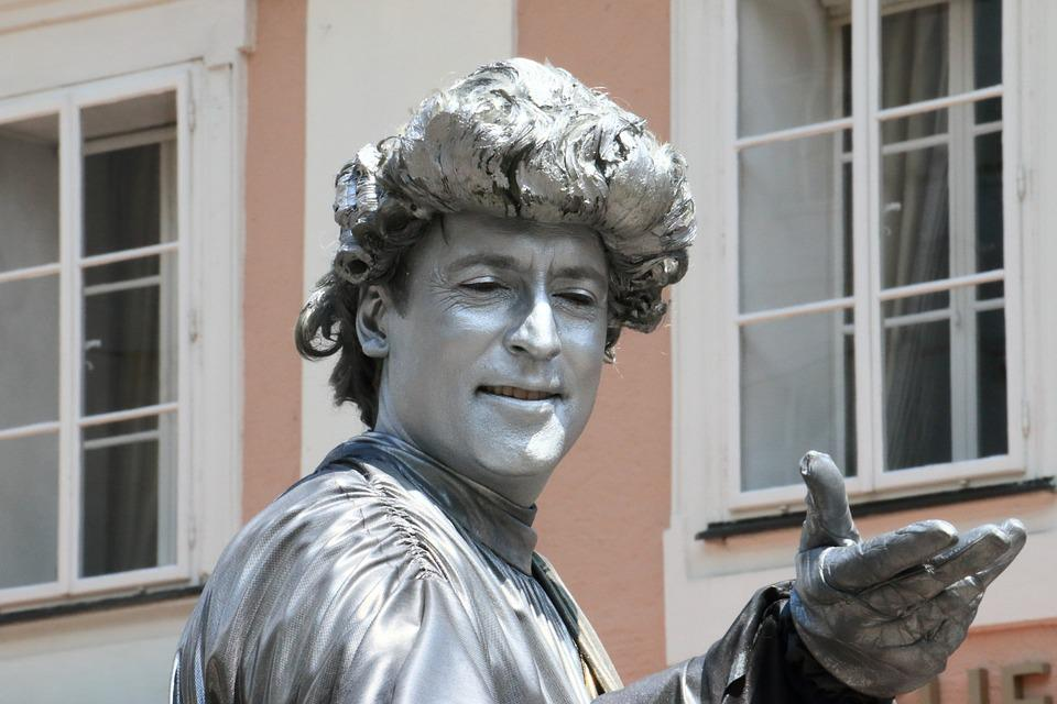 Mozart, Live, Sculpture, Salzburg, Austria, Man, Hand