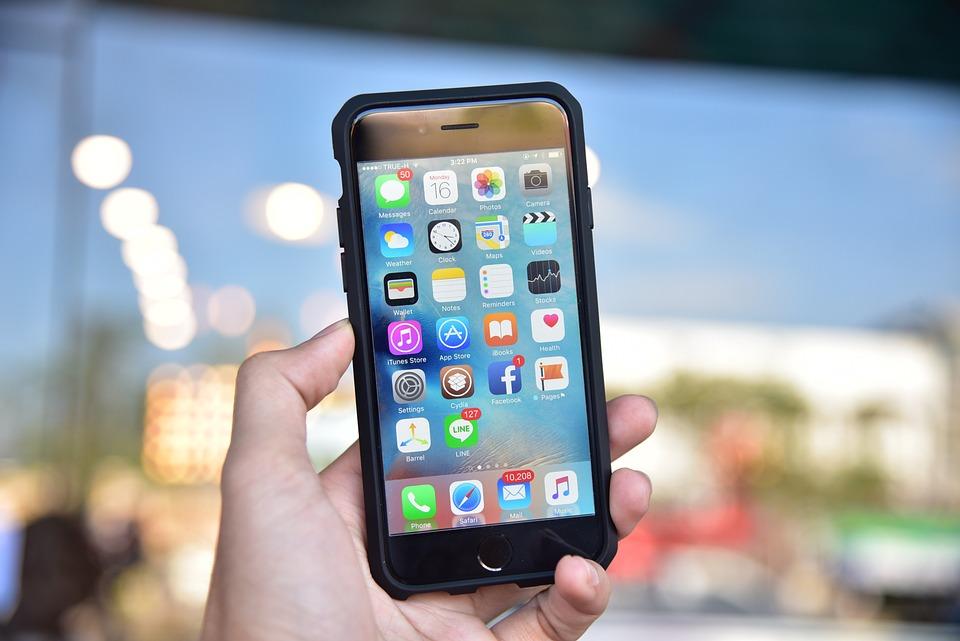 Iphone 6, Case, Accessory, Hold, Hand, Menu, Screen