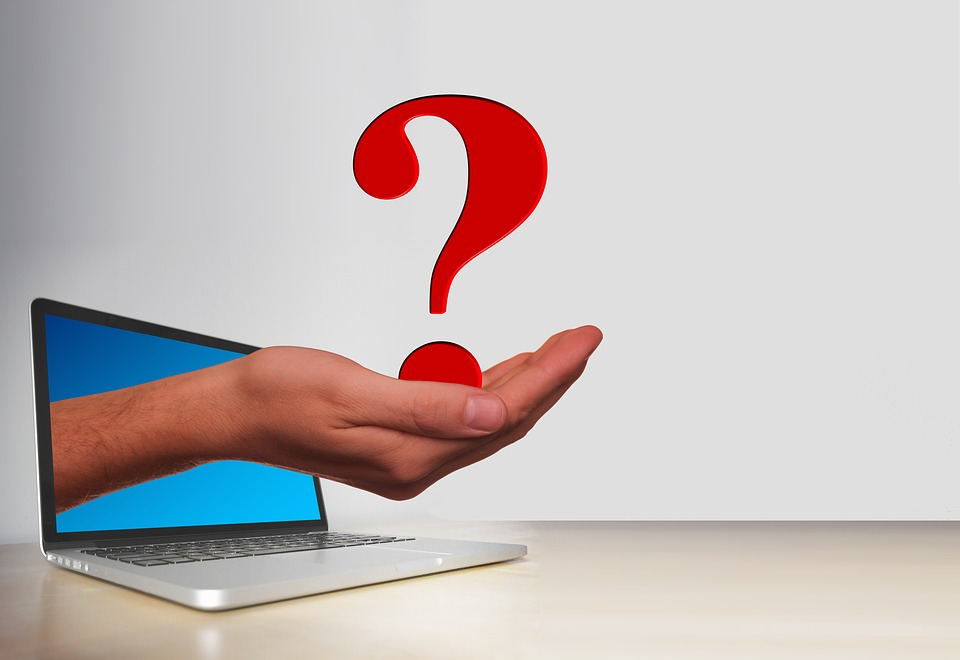 Question Mark, Laptop, Hand, Keep, Note, Duplicate