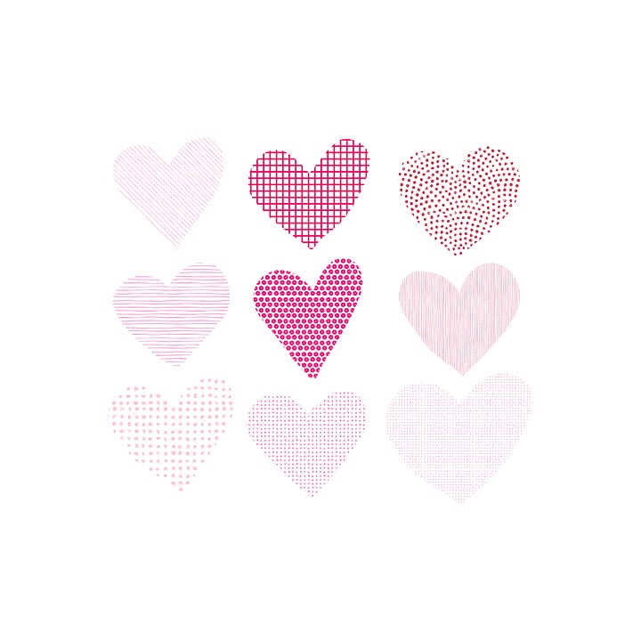 Valentine's Day, Hart, Hand Painting, Card, Love