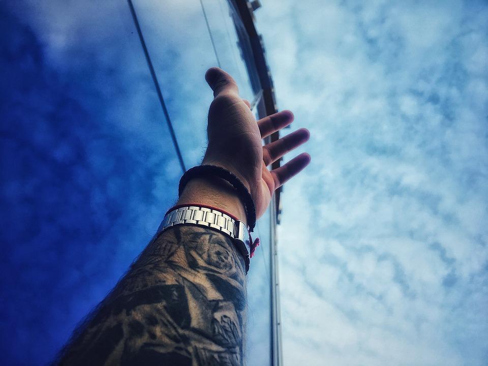 Hand, Sky, Summer, People, Male, Creativity, Life
