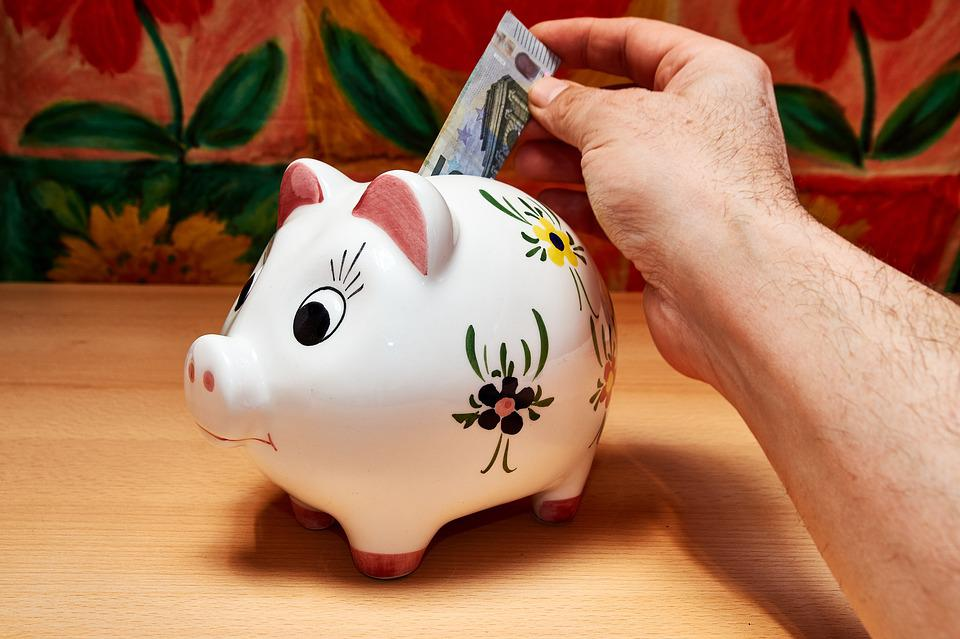 Savings, Piggy Bank, Hand, Money, Save, Ceramic