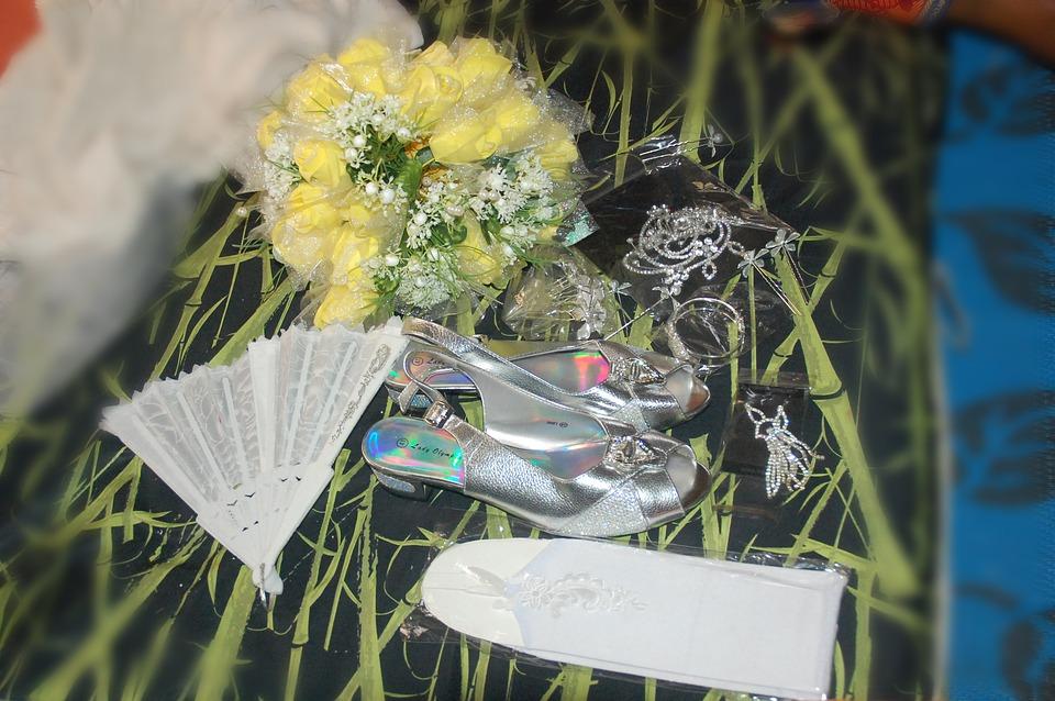 Shoe, Hand, Fan, Wedding, Flower