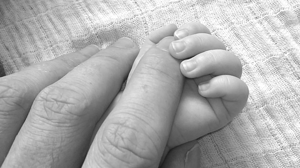 Baby, Sweet, Happy, Human, Papa, Hands, Hand
