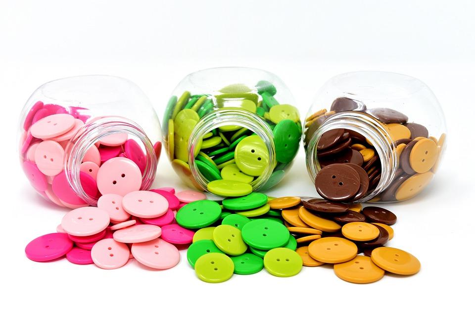 Buttons, Colorful, Color, Handarbeiten, Button