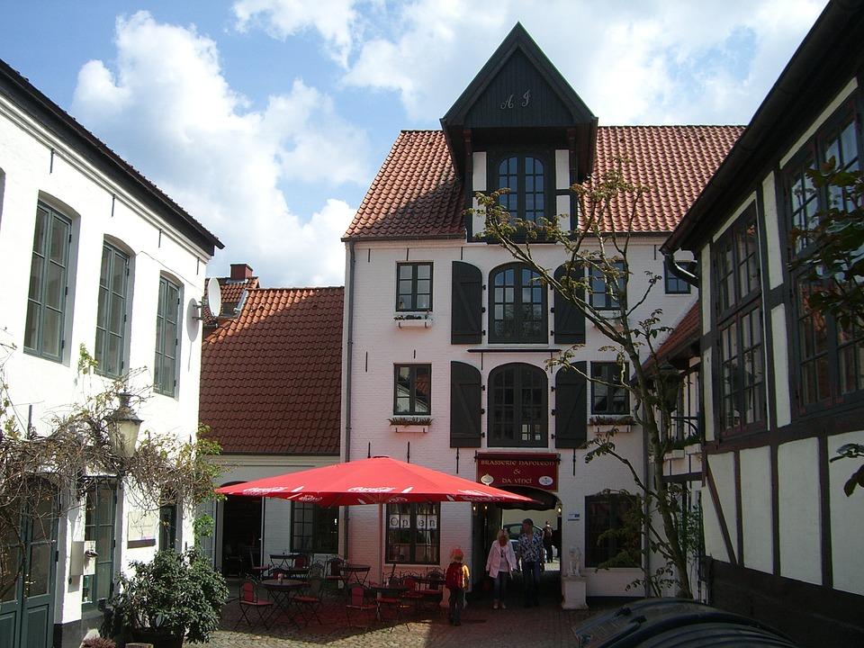 Flensburg, Downtown, Brasseriehof, Handelshof