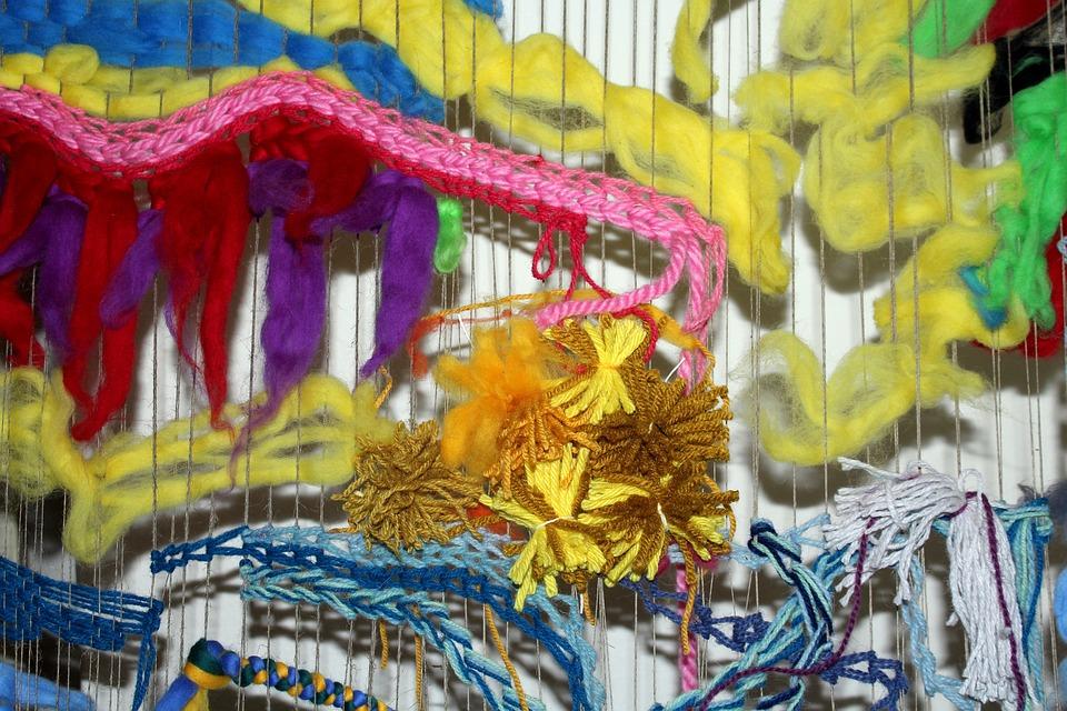 Wool, Yarn, Loom, Handicraft, Cooperation, Colorful