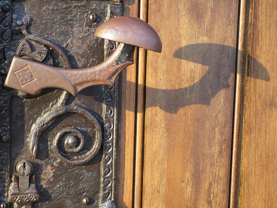 Door, Jack, Handle, Knauf, Old, Wood, Woods, Close