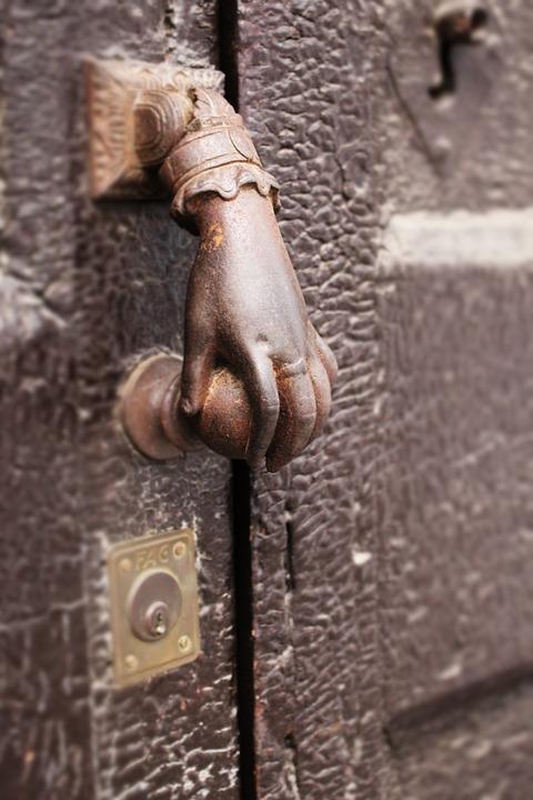 Hand, Knocker, Door, Ancient, Handle, Decorative, Metal