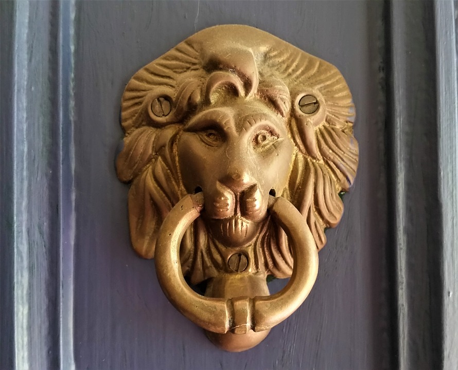 Lion, Door, Doorknocker, Knocker, Old, Handle, Metal