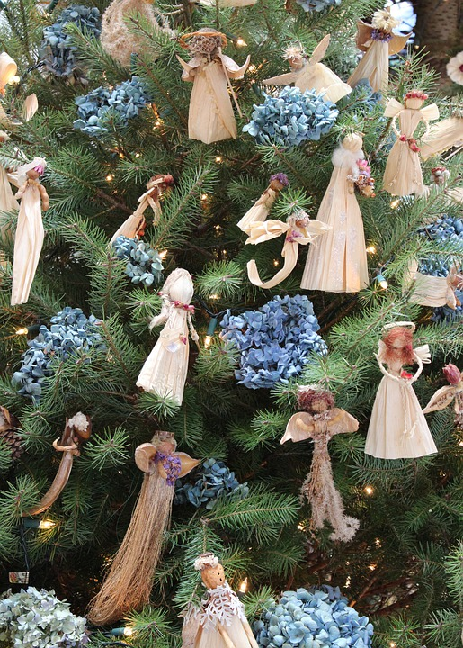 Christman Ornaments, Cornhusk Angels, Handmade
