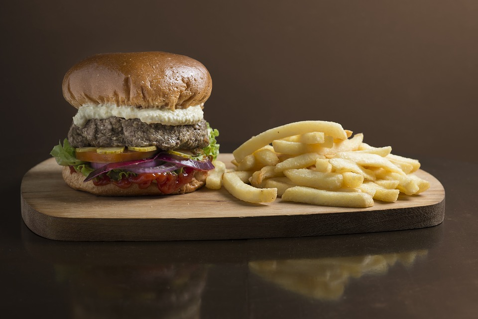 Burger, Snack, Crisp, Wood, Brown, Fast Food, Handmade