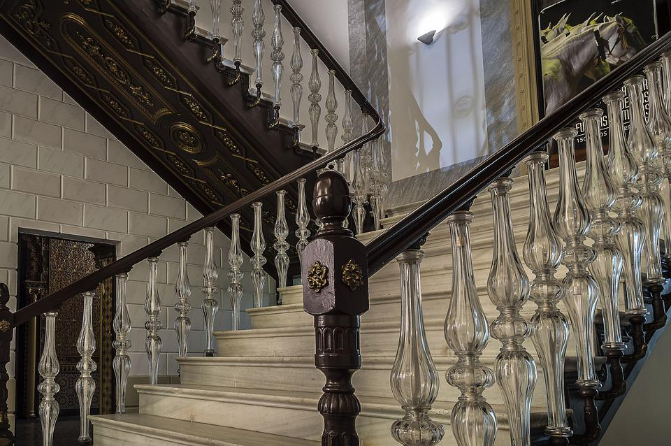 Ladder, Handrail, Glass, Railing Glass, Ladder Old