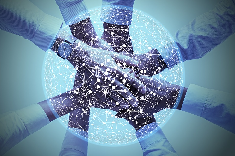 Network, Social, Abstract, Hands, Social Network