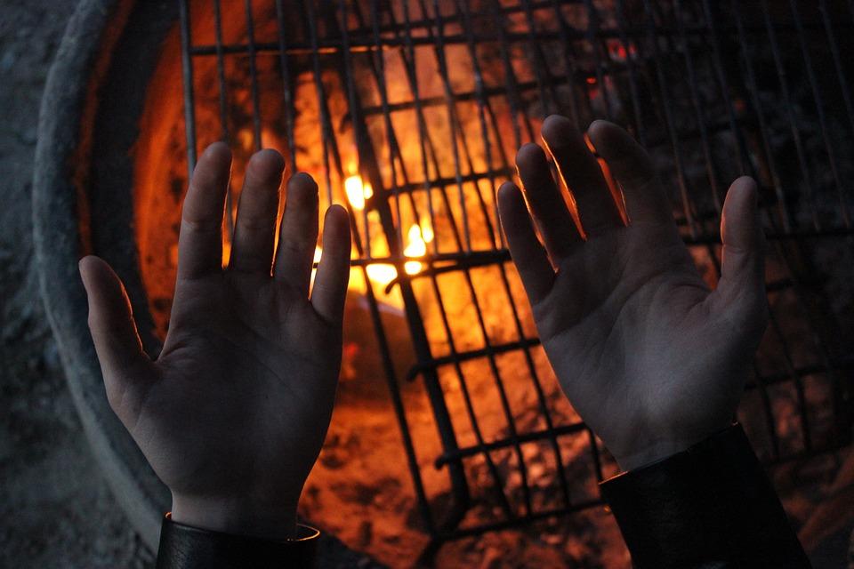Campfire, Heat, Hands