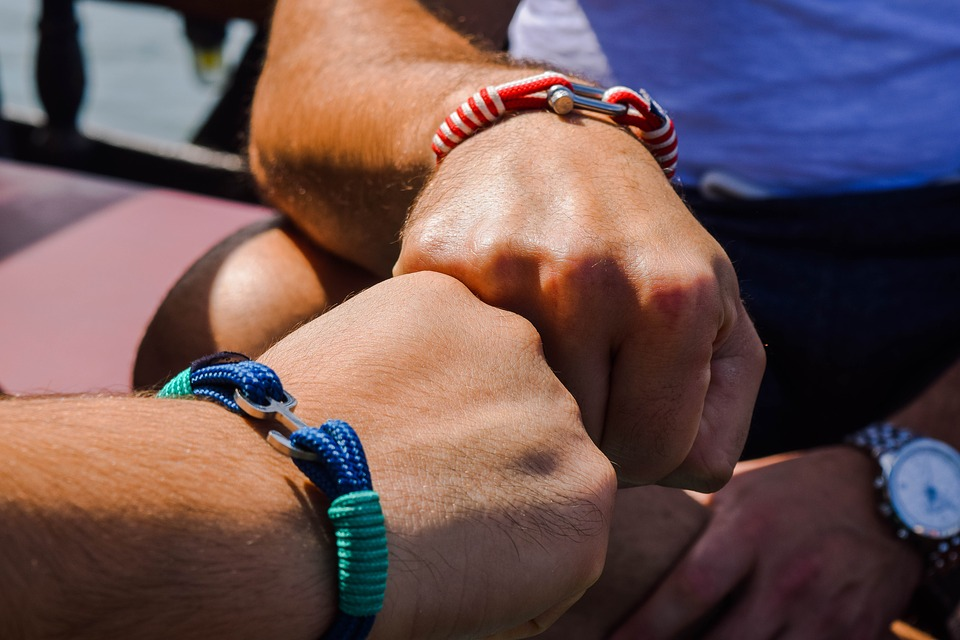 Hands, Friendship, Bracelets, Young Adult, Greece, Man