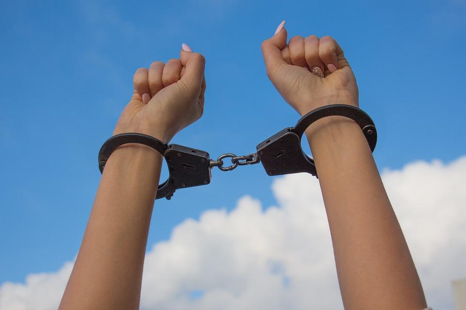 Sky, Hands In Handcuffs, Female Hands, Manicure