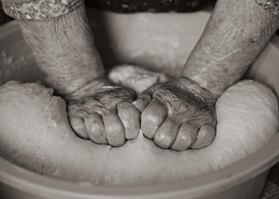 Hands, Grandma, Coca, Knead, Cake, Preparation