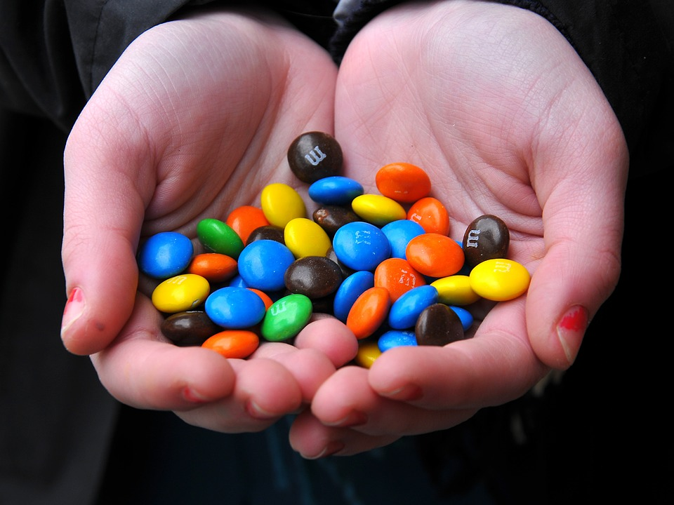Hands, Sweets, Love, Cute, Happy, Colorful, M M's