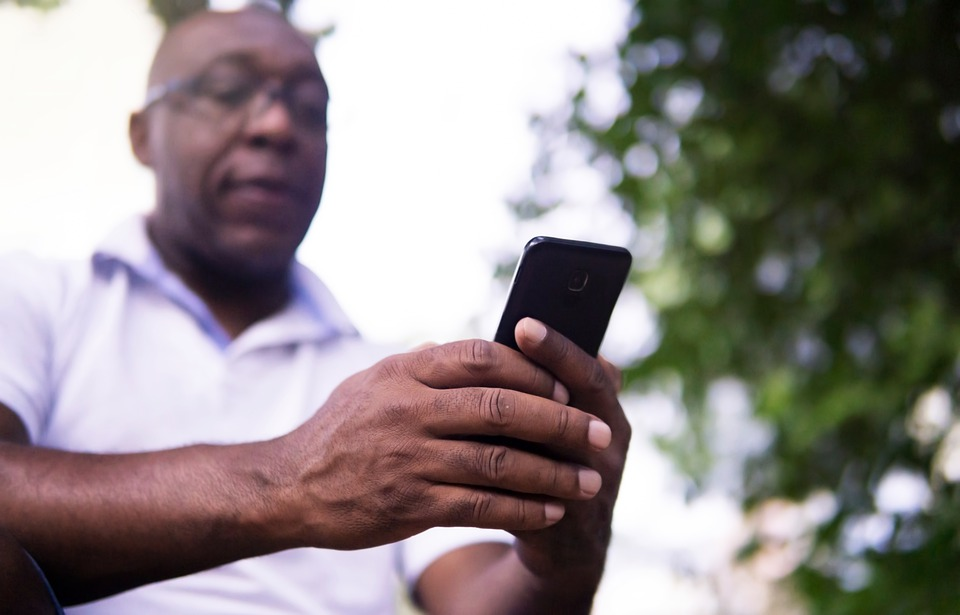 African American, Cellphone, Man, Black, Hands