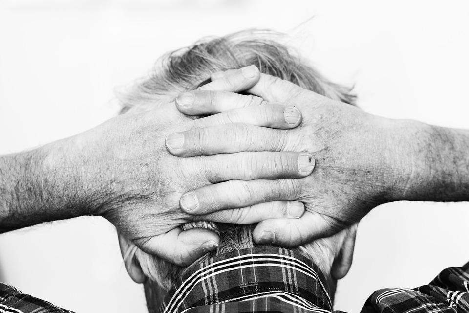 Hands, Head, Human, Old, Man, Person, Portrait