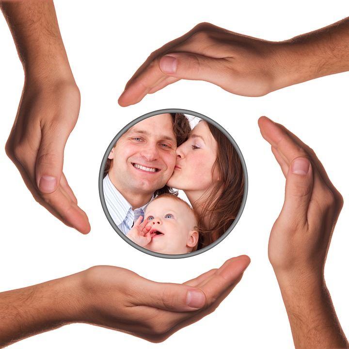 Hands, Protect, Protection, Father, Family, Child