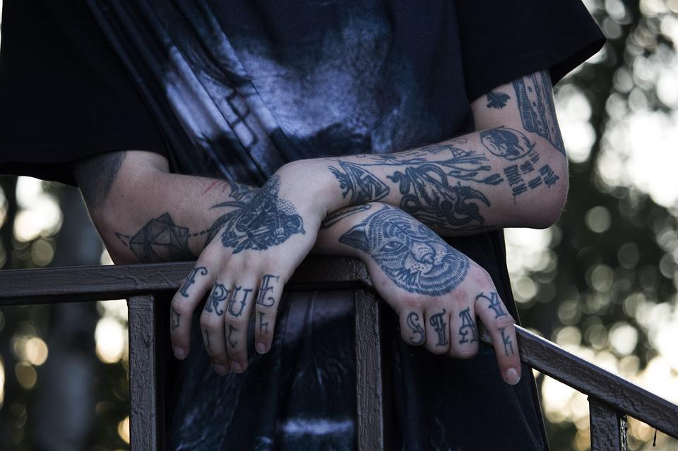 Tattoo, Hands, Young, Stylish, People