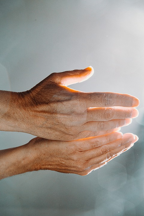 Hands, Light, Hand, Prayer, Technology, Digital, Lights