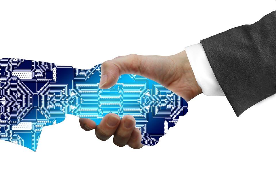 Digitization, Handshake, Shaking Hands, Industry