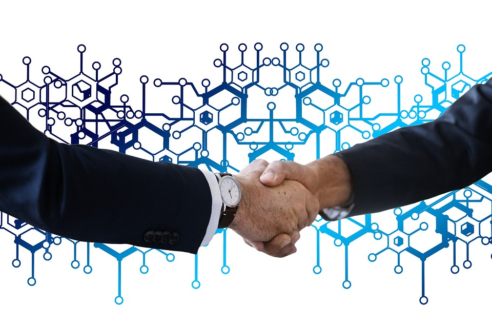 Block Chain, Shaking Hands, Handshake, Network, Social