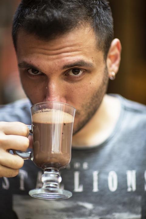 Coffee, Beverage, Latte, Male, Handsome, Human, Model