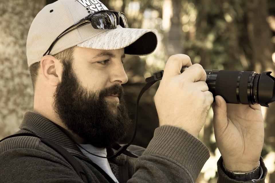 Man, Sunshine, Beard, Photographer, Handsome, Bearded