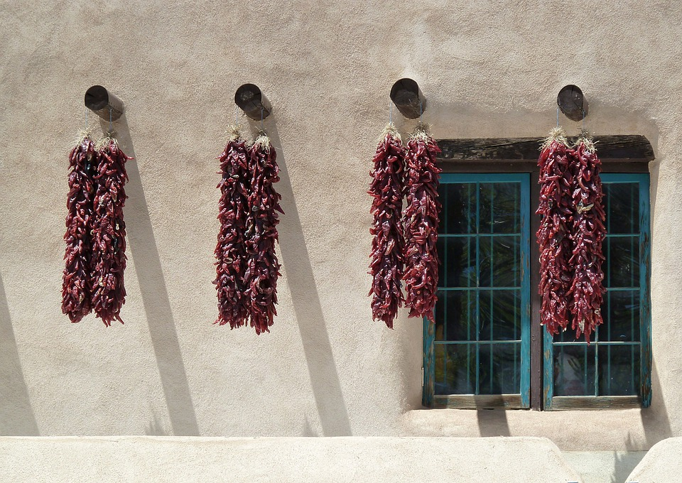 Dried, Chili, Peppers, Hanging, Wall, Hot, Window