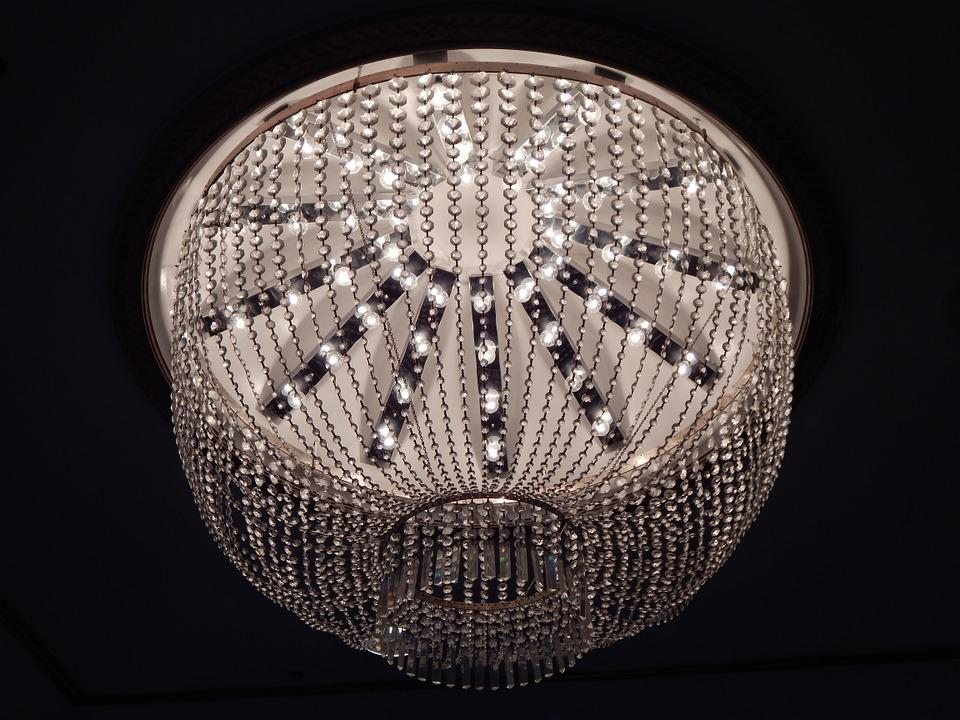Free photo Hanging Lighting Antique Chandelier Lamp Crystal - Max ...