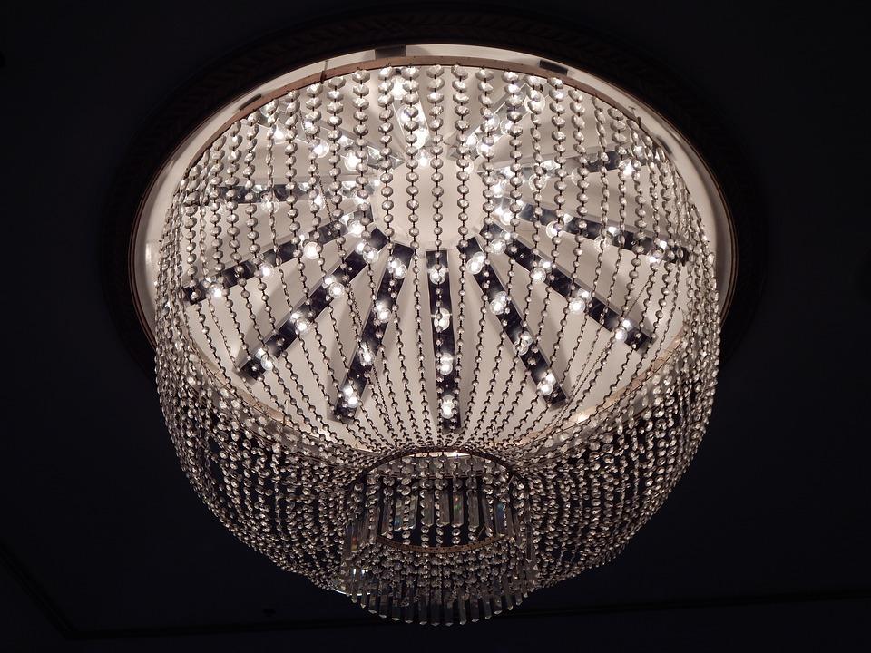 Chandelier, Lighting, Lamp, Hanging, Crystal, Antique